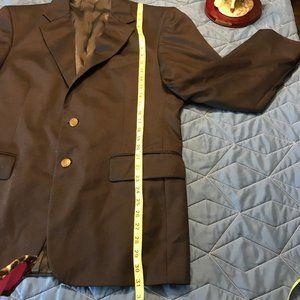 Oscar De La Renta Mens Suit Size 41R Black Jacket